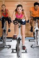 People on exercise bikes (thumbnail)