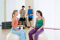 People in exercise studio (thumbnail)