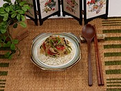 Chinese Cuisine, Food styling, Chinese, dishes, dish, Rice, chop suey over rice