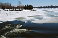 Moonies Bay Park Rapids on the Rideau River in spring