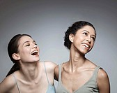 Portrait of laughing women