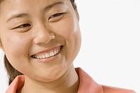 Close_up of a female office worker smiling