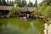 Gazebo in a garden, Yu Yin Shan Fang, Panyu, Guangzhou, Guangdong Province, China