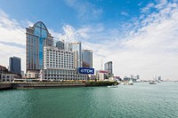 Buildings at the waterfront, Lujiazui, The Bund, Shanghai, China (thumbnail)