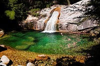 Waterfall in a forest, Emerald Valley, Huangshan, Anhui Province, China