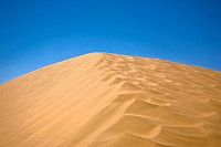 Sand dunes in a desert, Kubuqi Desert, Inner Mongolia, China