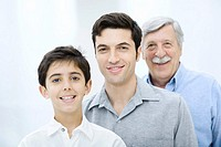 Three generations of men, portrait