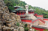 High angle view of a building, Revolving Archives, Summer Palace, Beijing, China