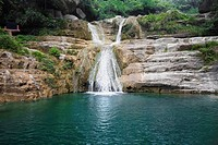 Waterfall in a forest, Mt Yuntai, Jiaozuo, Henan Province, China (thumbnail)