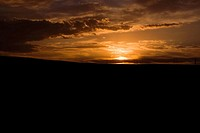 Sunrise over a landscape, Inner Mongolia, China (thumbnail)