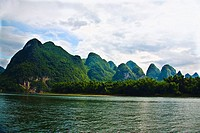 Trees at the riverside, Li River, XingPing, Yangshuo, Guangxi Province, China (thumbnail)