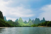 Hills along a river, Guilin Hills, XingPing, Yangshuo, Guangxi Province, China