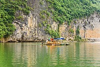 Boats in a river, XingPing, Yangshuo, Guangxi Province, China (thumbnail)