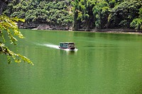 Boat in a river, XingPing, Yangshuo, Guangxi Province, China