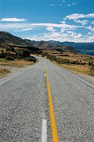New Zealand _ South Island _ Otago _ Wanaka neighbourhood _ Lake Hawea _ Highway No. 6