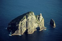 New Zealand _ North Island _ Northland _ Bay of Islands _Motukokako Island _ Hole in the rock