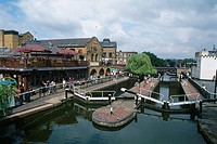 England _ London _ Camden Town district _ Camden Town and Camden Market Lock