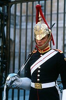 England _ London _ St James's district _ Whitehall _ guard