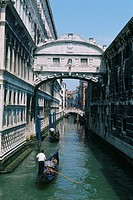 Italy _ Venice _ Bridge of Sighs _ The Doge's Palace _ off St Mark's square