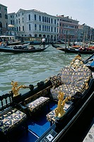 Italy _ Venice _ authentic Venetian gondola
