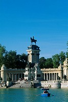 Spain _ Madrid _ Retiro Park _ artificial _ lake _ Alphonso XII Monument