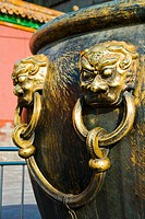 China _ Beijing PÚkin _ Forbidden City _ The Rightness Gate Duanmen _ The Palace of Supreme Harmony Taihe dian _ Bronze jar