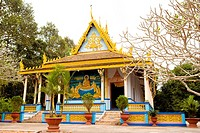 Vietnam _ The South _ The Delta of Mekong _ Soc Trang _ Khm&#222;re Pagoda of Chua Doi _ Pagoda of the bats