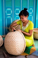 Vietnam _ The South _ The Delta of Mekong _ Rach Gia Region _ Craft industry _ Wicker baskets fabrication