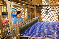 Vietnam _ The South _ The Delta of Mekong _ Chau Doc _ Cham Village _ Craft Industry _ Weaving