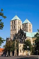 Facade of church, St Paul Church, Muenster, North Rhine_Westphalia, Germany