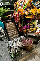 Small buddhist temple in Bangkok Thailand