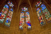 Spain _ Castile and Leon _ Leon _ Cathedral _ Stained glass windows
