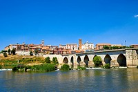Spain _ Castile and Leon _ Province of Valladolid _ Tordesillas _ Medieval bridge