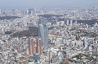 Roppongi Hills Building Area, Aerial View, Pan Focus