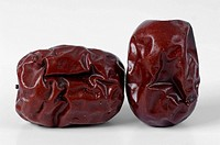 Two dried jujube fruits