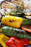 Grilled vegetables with rosemary and olive oil