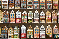 Fridge Magnets of Amsterdam town houses