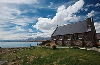 New Zealand _ South Island _ Aorangi _ Lake Tekapo _ Good Shepherd Church