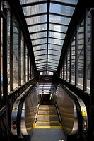 Escalator in a subway station, The Loop, Chicago, Illinois, USA