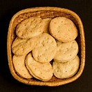 Close_up of cookies in a basket