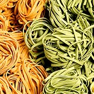 Close_up of raw tagliatelle