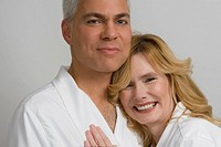Portrait of a mature couple embracing each other and smiling (thumbnail)