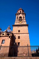 Low angle view of a cathedral, Morelia Cathedral, Morelia, Michoacan State, Mexico