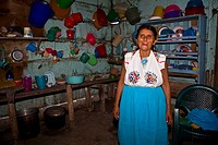 Mature woman standing in a kitchen, Papantla, Veracruz, Mexico