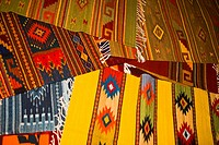 High angle view of carpets, Teotitlan Del Valle, Oaxaca State, Mexico