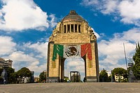 Low angle view of a monument, Monumento a La Revolucion, Mexico City, Mexico