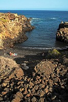 Beach cove, South coast of Tenerife, Canary Islands, Spain