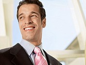 Businessman smiling portrait