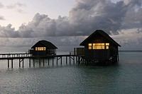 Water bungalows, Maldives