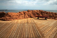 Leocadio Machado promenade by beach, El Medano, Tenerife. Canary Islands, Spain